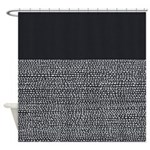 Riverside Black Shower Curtain