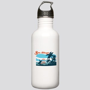 Retro San Diego Surf Water Bottle