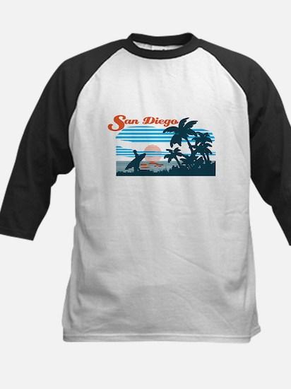 Retro San Diego Surf Baseball Jersey