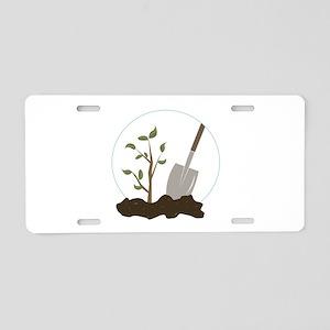 Tree Planting Aluminum License Plate