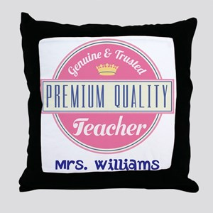 Teacher Vintage Personalized Throw Pillow