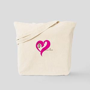 chosen love - pink/brown Tote Bag