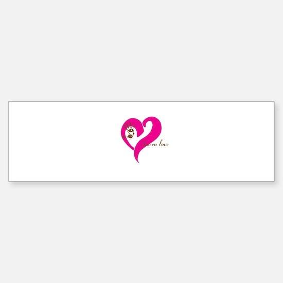 chosen love - pink/brown Bumper Bumper Bumper Sticker
