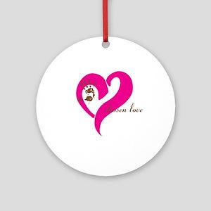 chosen love - pink/brown Ornament (Round)