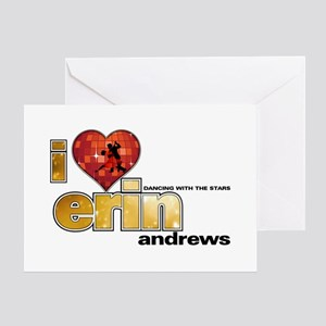 I Heart Erin Andrews Greeting Card
