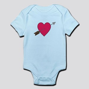 Heart With Arrow Body Suit