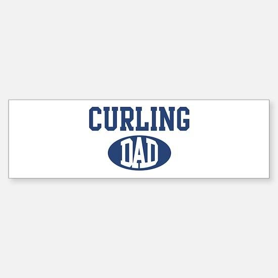 Curling dad Bumper Bumper Bumper Sticker