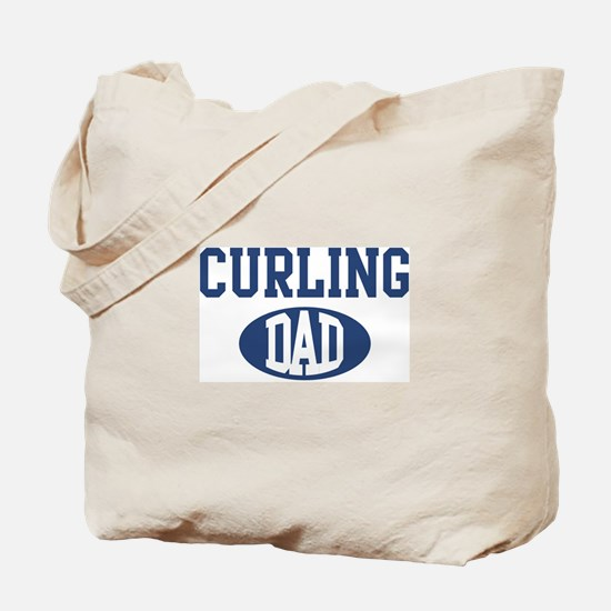 Curling dad Tote Bag
