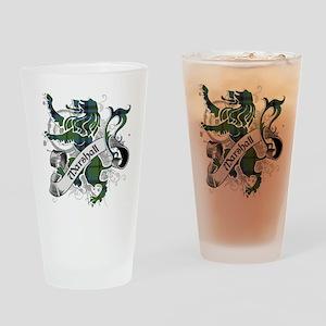Marshall Tartan Lion Drinking Glass
