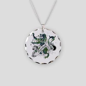 Marshall Tartan Lion Necklace Circle Charm