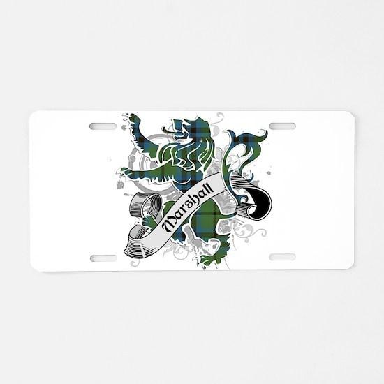 Marshall Tartan Lion Aluminum License Plate