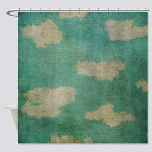 Vintage Clouds Shower Curtain
