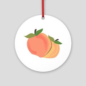 Peaches Ornament (Round)