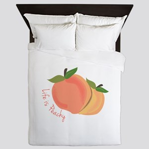 Life Is Peachy Queen Duvet