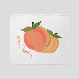 Life Is Peachy Throw Blanket