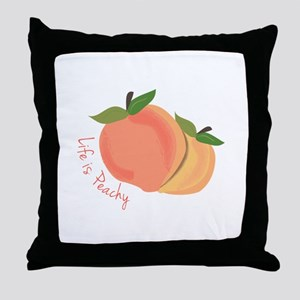 Life Is Peachy Throw Pillow
