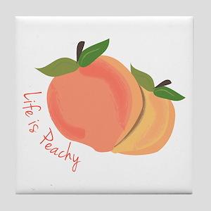 Life Is Peachy Tile Coaster
