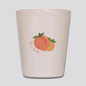 Life Is Peachy Shot Glass