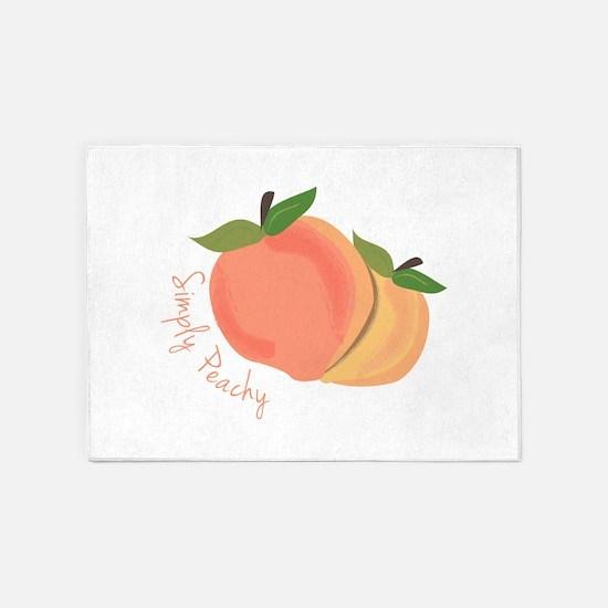 Simply Peachy 5'x7'Area Rug