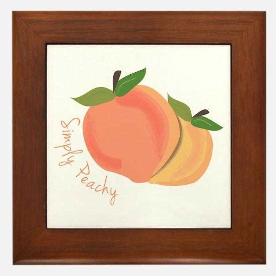 Simply Peachy Framed Tile