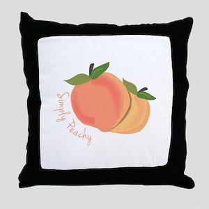 Simply Peachy Throw Pillow