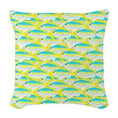 Yellowtail Snapper fish pattern12b Woven Throw Pil