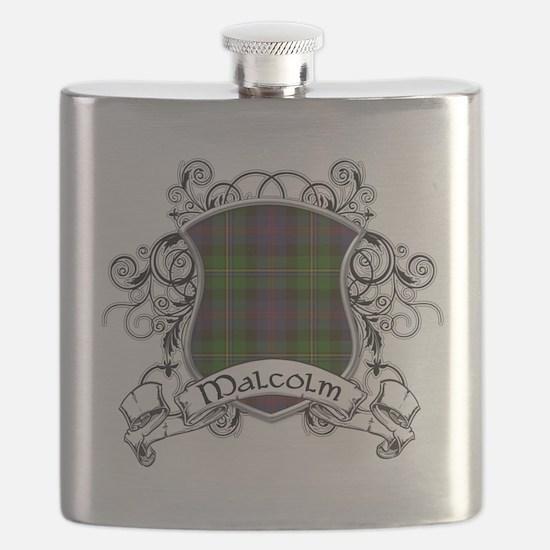 Malcolm Tartan Shield Flask