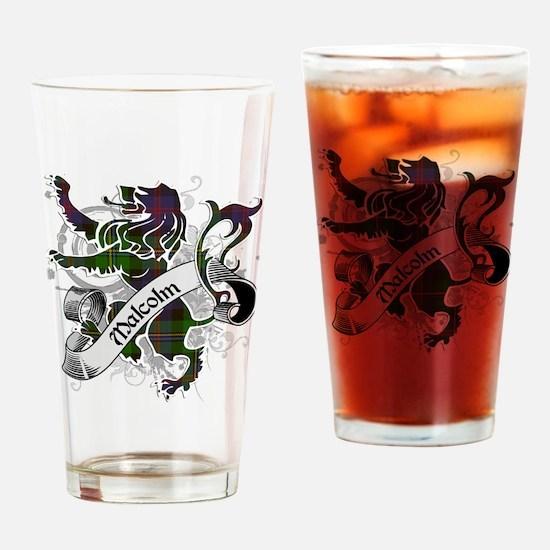 Malcolm Tartan Lion Drinking Glass