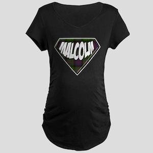 Malcolm Superhero Maternity Dark T-Shirt