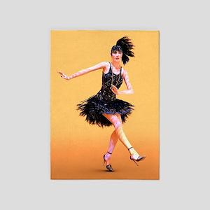 Flapper Dancing 5'x7'Area Rug