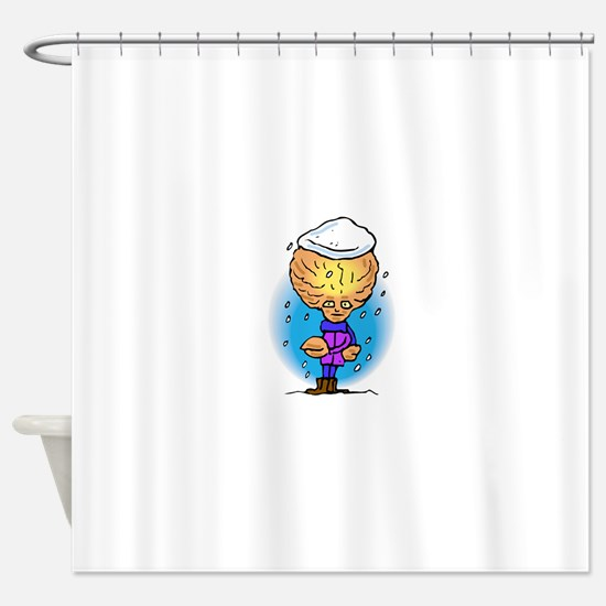Snow Covered Alien Brother Shower Curtain