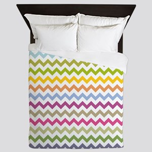 Colorful Chevron Queen Duvet