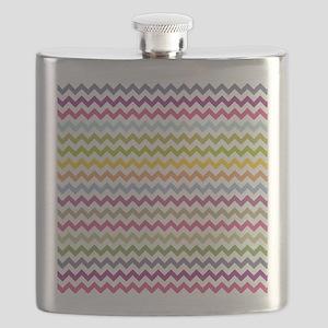 Colorful Chevron Flask