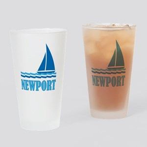 Sail Newport Drinking Glass