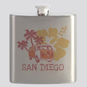 San Diego Hippie Surf Bus Flask
