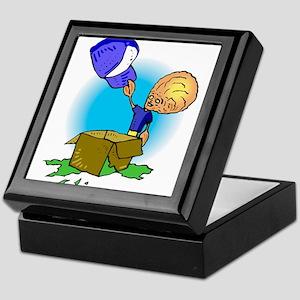 Brother opening hat in box Keepsake Box
