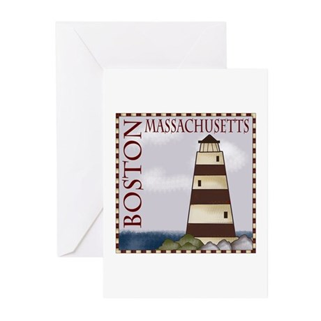 Boston Massachusetts Greeting Cards (Pk of 10)