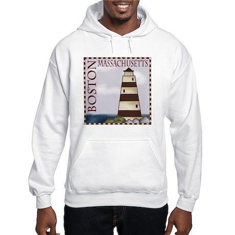 Boston Massachusetts Hooded Sweatshirt