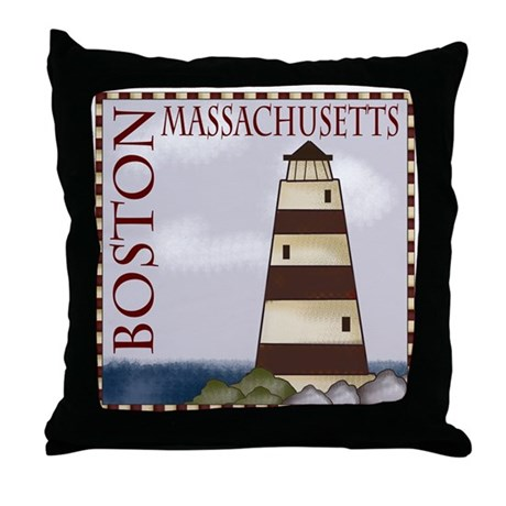 Boston Massachusetts Throw Pillow