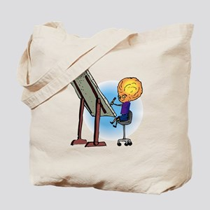 Brother Alien Artist Drawing Tote Bag