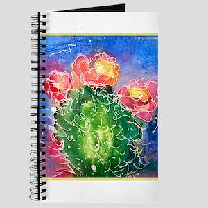 Pink cactus, southwest art Journal