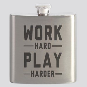 Work Hard Play Harder Flask