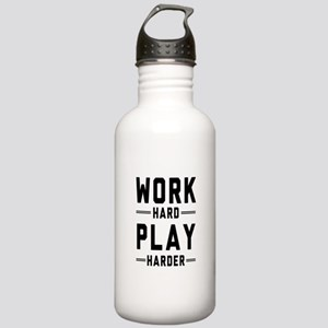 Work Hard Play Harder Water Bottle