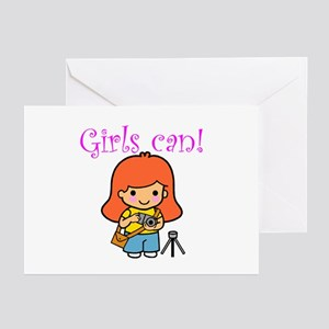 Girl Photographer Greeting Cards (Pk of 10)