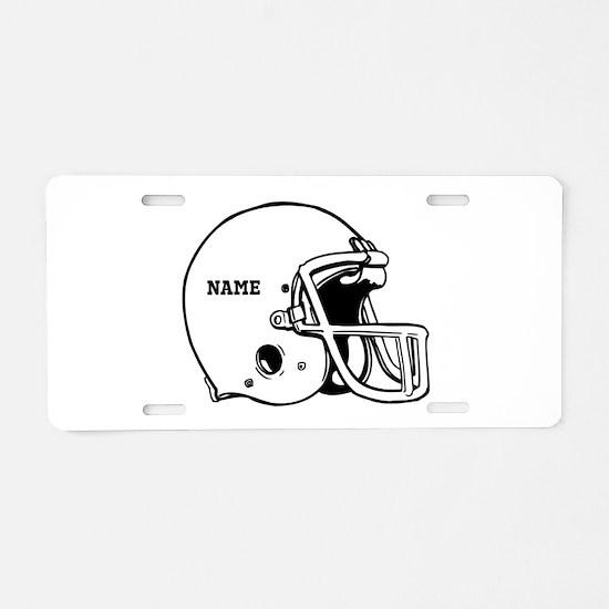 Customize a Football Helmet Aluminum License Plate