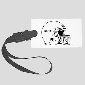 Customize a Football Helmet Luggage Tag