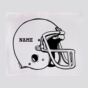 Customize a Football Helmet Throw Blanket