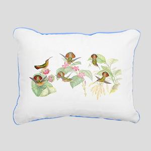 Hummingbirds Rectangular Canvas Pillow