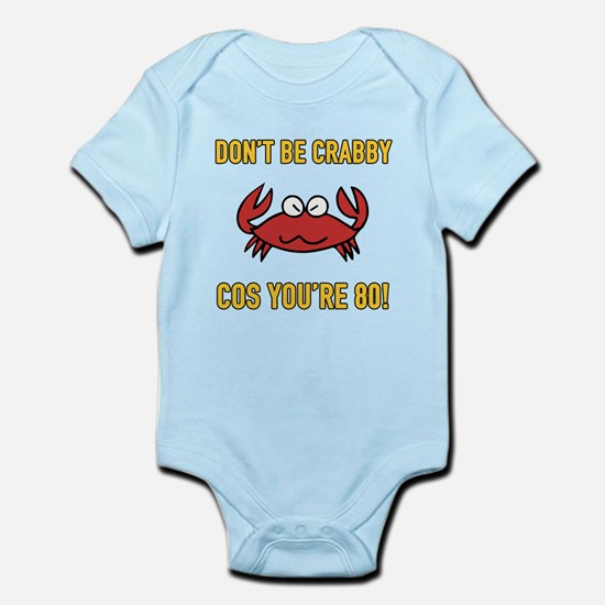 Funny 80th Birthday (Crabby) Body Suit