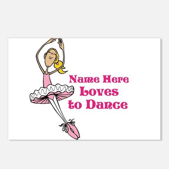 Custom Dancer Design Postcards (Package of 8)